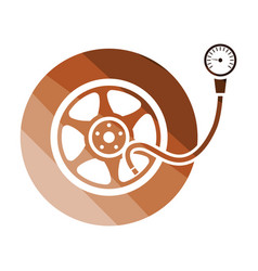 Tire pressure gage icon vector
