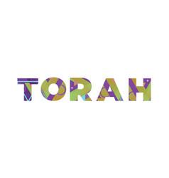 torah concept retro colorful word art vector image