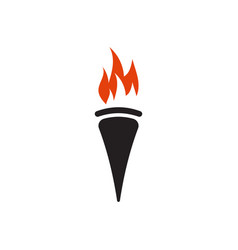 torch graphic design template isolated vector image