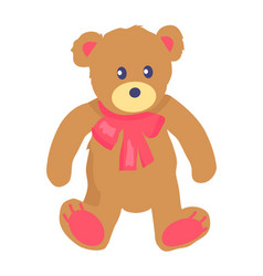 toy teddy bear with baw vector image