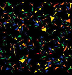 triangles abstract confetti pattern vector image
