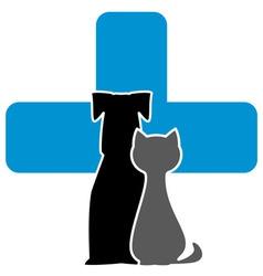 Veterinary care icon vector