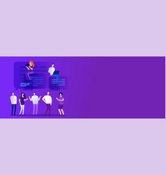 web chat forum concept with empty space vector image