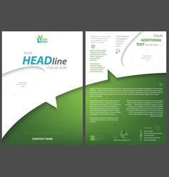 White-green flyer template vector