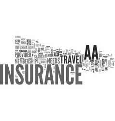 aa travel insurance text word cloud concept vector image vector image