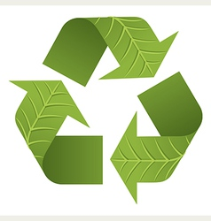 Leaf recycle logo vector