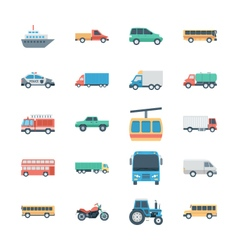 Transports colored icons 2 vector
