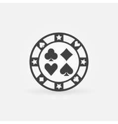 Casino chip icon vector image vector image