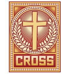 Christian cross poster vector