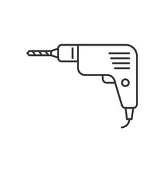 drill outline icon vector image