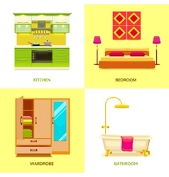 Modern Interior Design Composition vector image