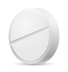 Realistic white tablet vector image vector image