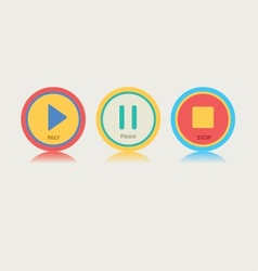 Round Music Play Button vector image