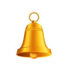 shiny golden Christmas bell vector image vector image