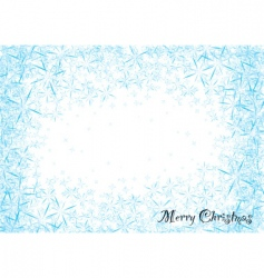 snowflake dust vector image