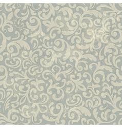 vintage floral aged pattern vector image vector image