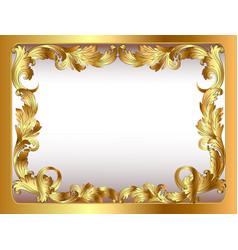 ancient background framed gold vegetative ornament vector image vector image
