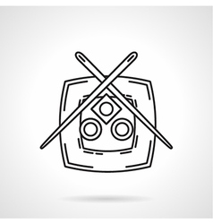 Black line icon for sushi menu vector image