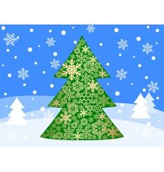 christmas tree 5 vector image