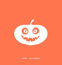 digital orange happy vector image