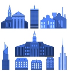 European Flat City Elements vector image vector image