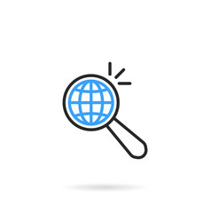 global search like thin line magnifying glass vector image vector image