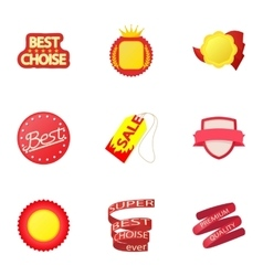 Tag icons set cartoon style vector image