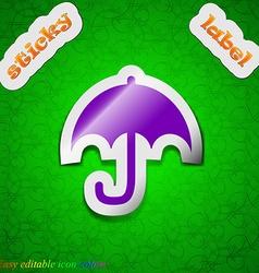 Umbrella icon sign Symbol chic colored sticky vector image vector image