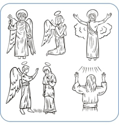 Angels and saints - vector image vector image