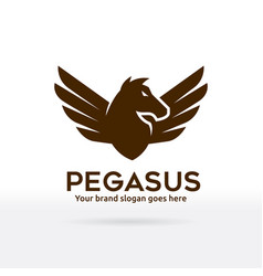 pegasus logo horse with wings brand identity vector image vector image