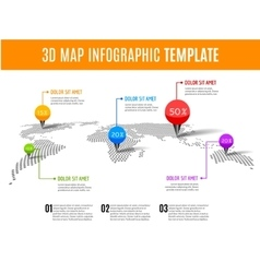 World map infographic 3D map concept with vector image