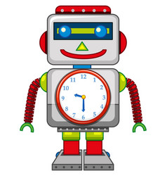 a robot toy on white background vector image