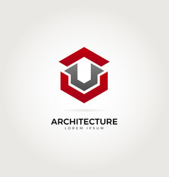 abstract architecture logo symbol vector image