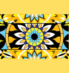 abstract background of stained glass mandalas vector image