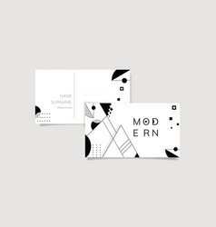Abstract modern black and white template set vector