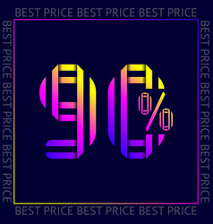 abstract template best price sign web sticker vector image