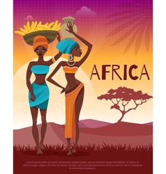 African culture tribal traditions flat poster vector