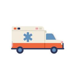ambulance car with star of life emblem medical vector image