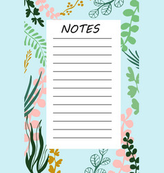 branch daily planner vector image