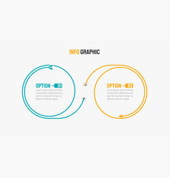 business infographic design arrow with 2 options vector image