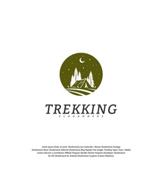 camping logo template outdoor activity symbol logo vector image