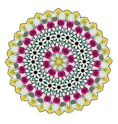 Colorful mandala design vector