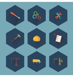 Construction and real estate icon set vector image vector image
