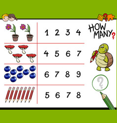 Counting game for kids vector