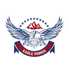eagle power emblem with condor design element vector image