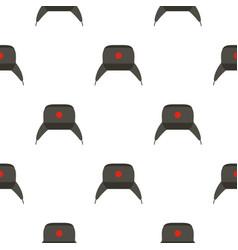 Earflap hat pattern flat vector