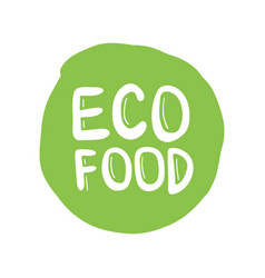 eco friendly label round emblem painted icon for vector image
