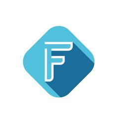 f letter logo vector image