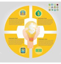 Finance infographic element vector