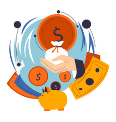 financial planning budget management in business vector image